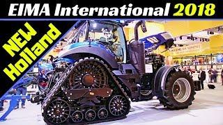 EIMA International 2018 - New Holland Tractors, Harvesters & More! - T8 Smart Trax, CR 8.90, etc
