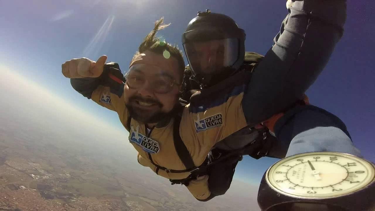 Salto de Paraqueda do José Ivan na Queda Livre Paraquedismo 27 07 2016