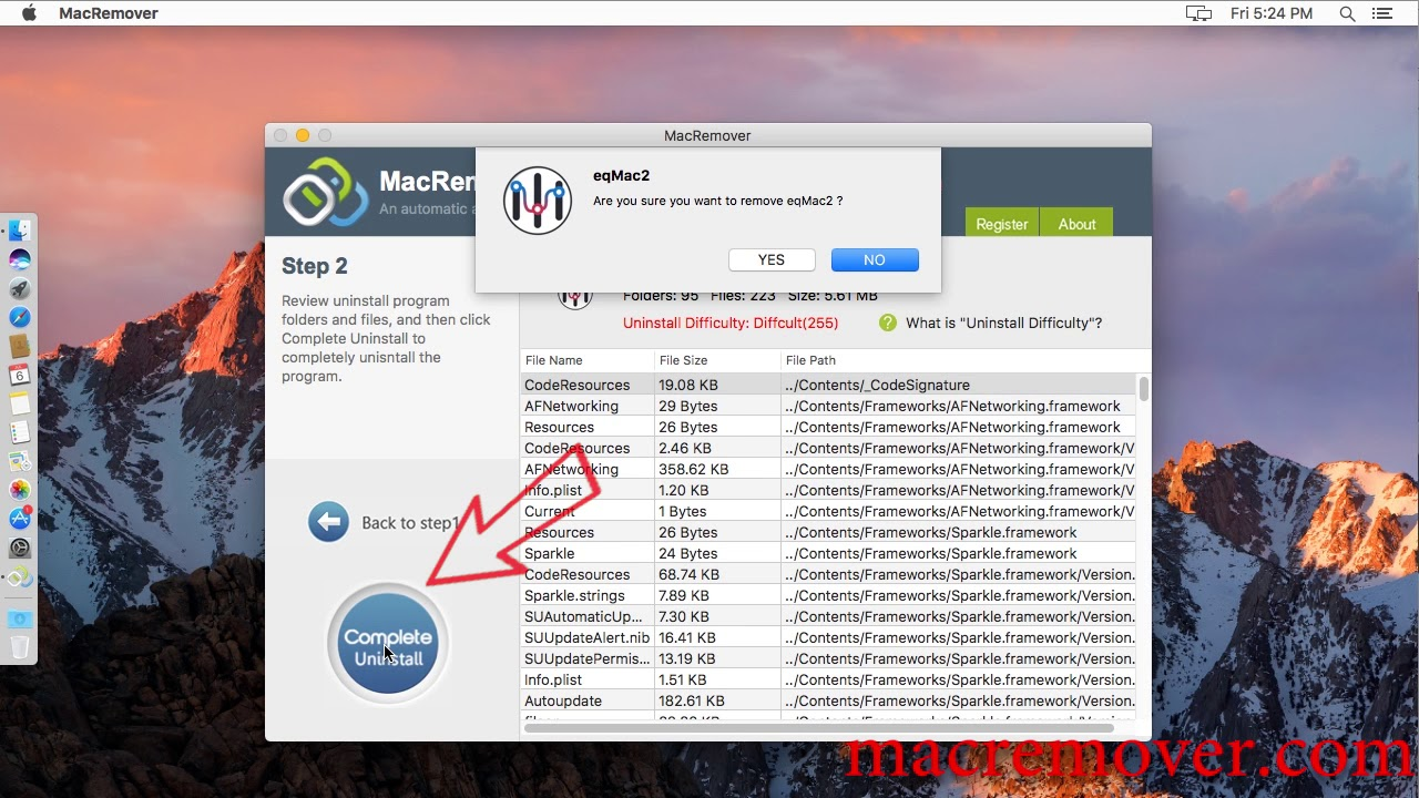 How to remove eqMac2 on your macOS and Mac OS X?