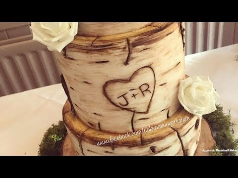 How To Create a Birch Wood Effect On A Cake