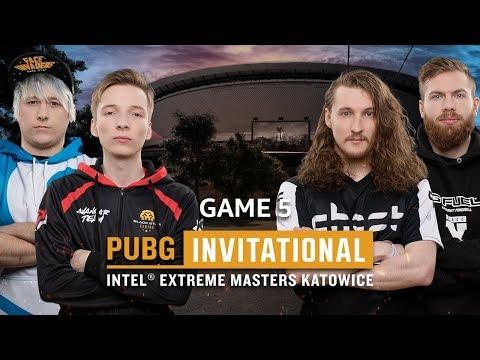 IEM PUBG Invitational Katowice 2018 Game 5