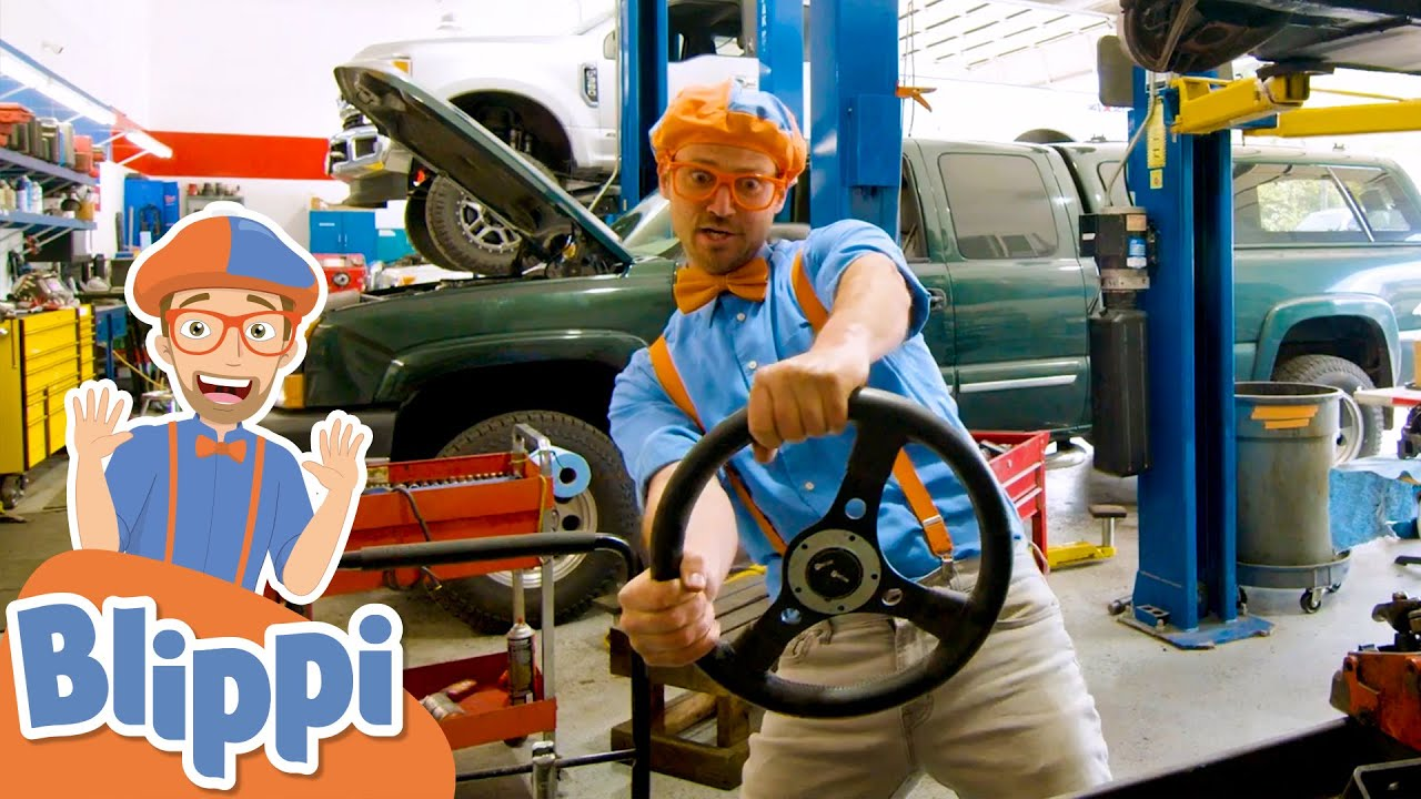 Blippi Visits A Truck Garage | Learn About Vehicles For Kids | Educational Videos For Toddlers