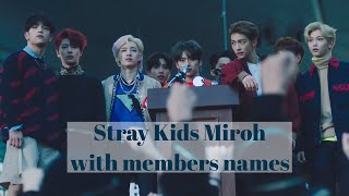 Stray Kids-miroh With Members Names