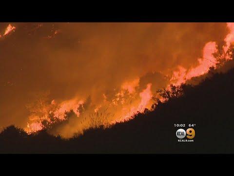 Brush Fire At Camp Pendleton