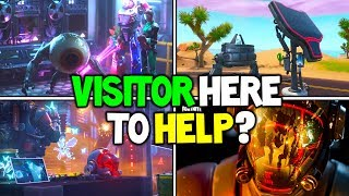 "*NEW* Fortnite: The Visitors SECRET INTENTIONS and PLANS REVEALED! ""Is He Good or Bad?"" (Storyline)"