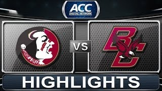 Florida State vs Boston College | 2014 ACC Basketball Highlights