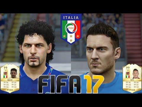 FIFA 17 - New Legends (with Game Faces) - Italy - Baggio, Del Piero, Totti U0026 More!