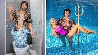 Супергерои в аквапарке! / Как пронести еду в бассейн или аквапарк!