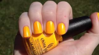 China Glaze Sun Worshipper video swatch