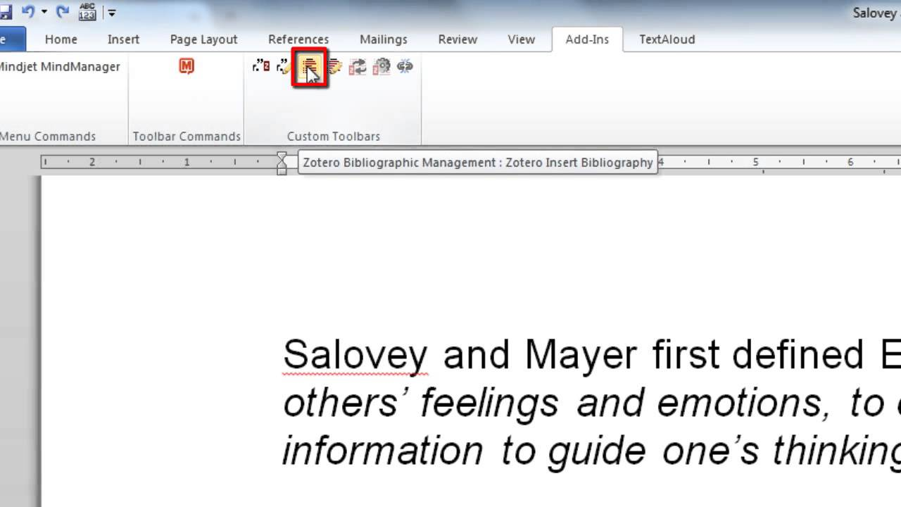 6: Adding A Bibliography In Ms Word Using Zotero
