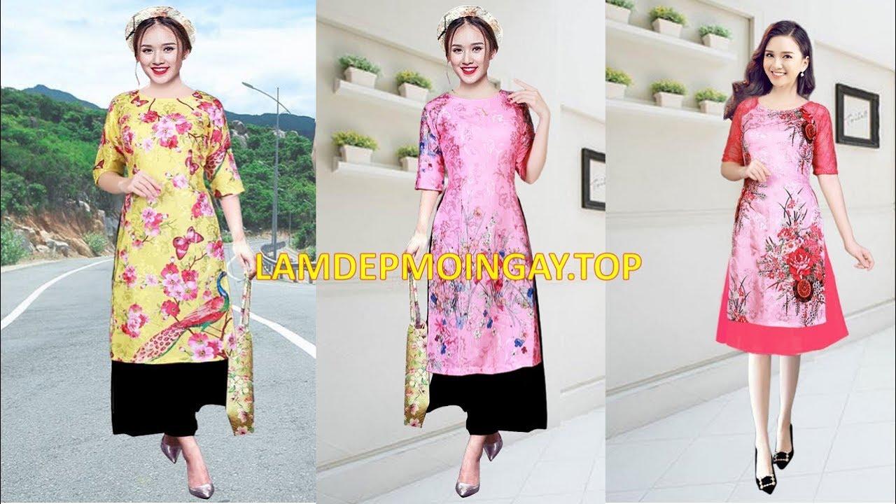 Kiểu áo dài cách tân mặc tết đẹp nhất 2019 tphcm, Hà Nội Đà Nẵng