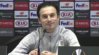 предыгровая пресс конференция Ненада Эрича и Григория Бабаяна