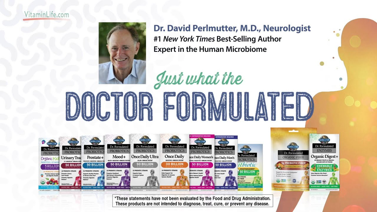 dr formulated probiotics by garden of life youtube
