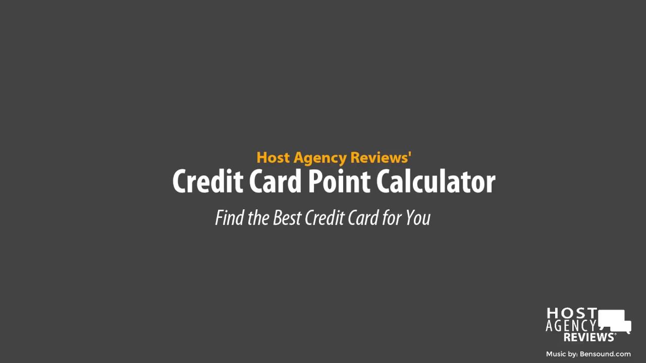 Free Credit Card Points Calculator