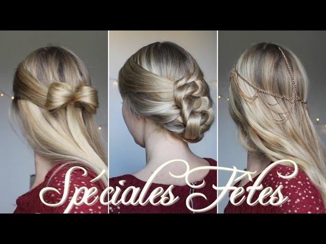 ☆ 3 coiffures faciles pour noël ! - youtube