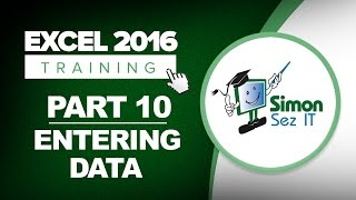 Excel 2016 for Beginners Part 10: How to Enter Data into an Excel 2016 Spreadsheet