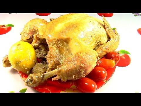 Курица с лимоном в духовке.   Рецепт запеченной курицы .