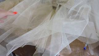 Как сшить пышную юбку из фатина, часть 2/ How to sew a lush skirt of tulle, part  2