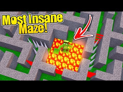 MOST INSANE DANGEROUS MAZE IN MINECRAFT! - (Secure Maze Chal