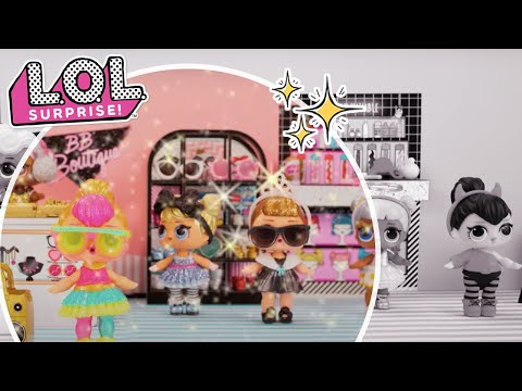 LOL Surprise! | Stop Motion Cartoon | Neon Q.T.'s Glam Glitter Makeover