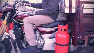 Musstang MT200 4V видеообзор и работа двигателя под нагрузкой на газе и бензине