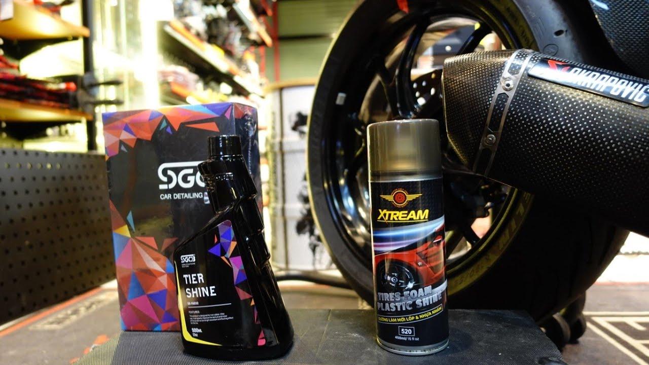 Dưỡng lốp nào hiệu quả mà có thể tự làm tại nhà mùa dịch?? SGCB Tier Shine vs Xtream Tier Foam