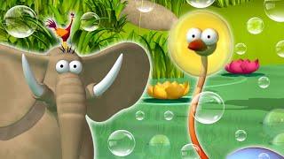 Best of Gazoon S2 Ep50: Bubble Trouble   Ostrich vs Elephant   Funny Animal Cartoon   HooplaKidz TV