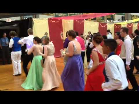 "Taconic High School students dance to the ""Human Shuffle"" at prom on Tuesday. #Berkshires"