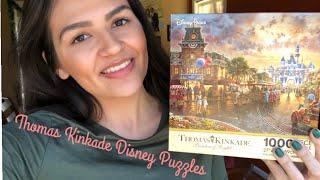 My Thomas Kinkade Disney Puzzle Collection!   Vlogmas 2018