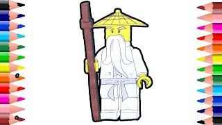 Lego ninjago coloring pages–How to draw and color lego ninjago–coloring videos for kids