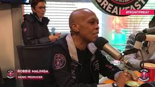 the legendary robbie malinga in studio on the djsbubreakfast