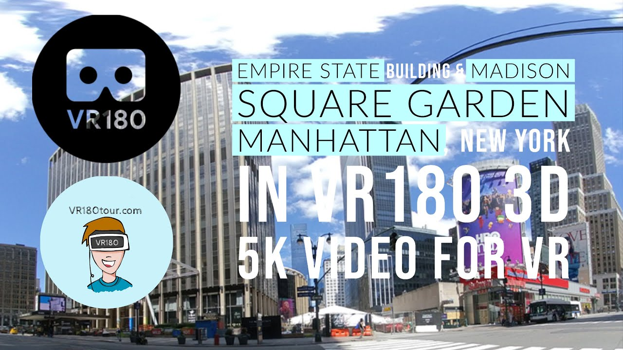 VR180Tour Empire State and Madison Square VR180 3D 5k tour