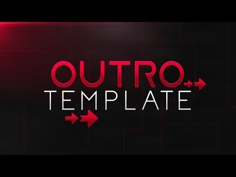 FREE OUTRO TEMPLATE ➽ Customizable Pack Photoshop - YouTube - free outro template