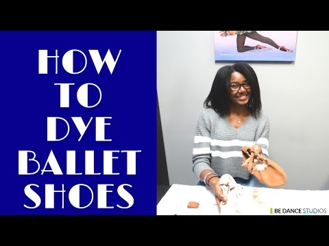 How to Dye Ballet Shoes