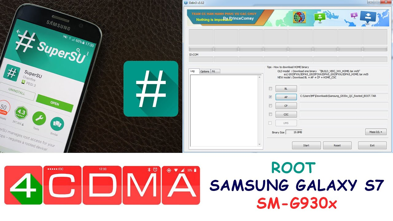 How to ROOT ANY Samsung S7 SM-G930 and install SuperSU! 08/2016