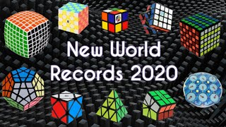 ALL NEW Rubik's Cube WORLD RECORDS 2020 | Speedcubing WRs Singles
