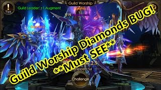 Legacy of Discord- Guild Worship Diamonds BUG!