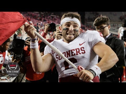 Baker Mayfield plants Oklahoma's flag at midfield after Ohio State upset | College Football on ESPN