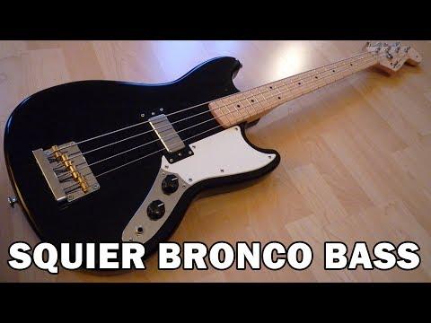SQUIER BRONCO BASS DEMO & REVIEW 2018