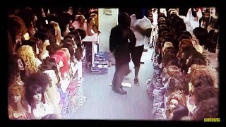 Looters rob hair weave store and dollar store Houston Texas hurricane flood part 2