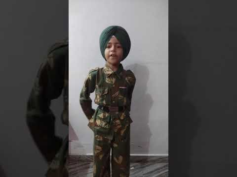 Soldier In Fancy Dress Competition