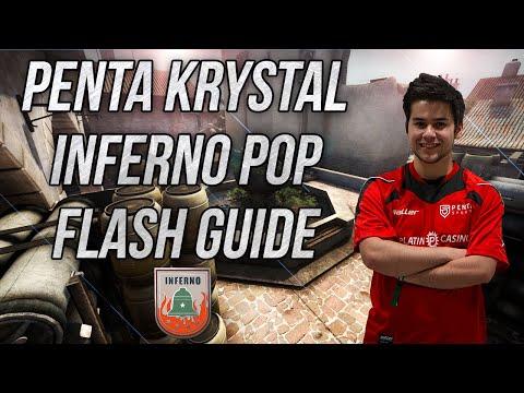 CS:GO - Penta kRYSTAL's Inferno Pop Flash Guide