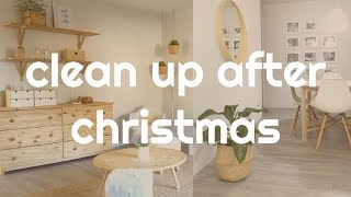 Cleaning home after Christmas- Clean and put away decoration with me