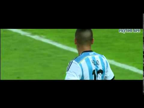 Marcos Rojo Rabona clearance. Argentina vs Bosnia. World Cup 2014