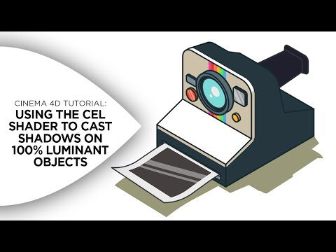 Cinema 4D Tutorial - Using Cel Shader to Cast Shadows on 100% Luminant Objects
