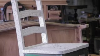 How to Paint Crackle & Distressed Furniture : Furniture Repair & Refinishing