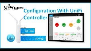 UniFi AC مش التكوين أول الوقت مع جهاز العرض الضوئي تحكم