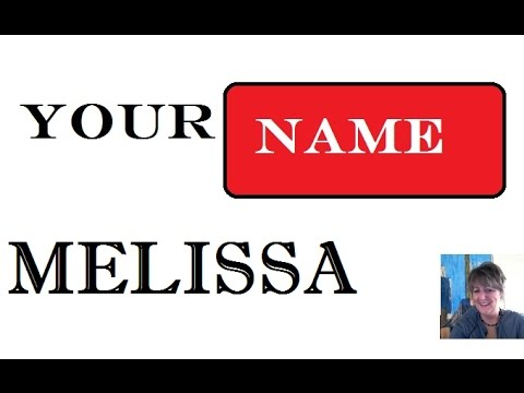 Melissa Name Meaning 1st. Name 🎥
