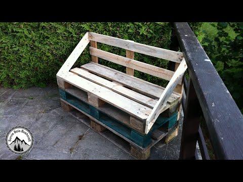 Nouveau - Comment fabriquer un banc en palette très facilement ...