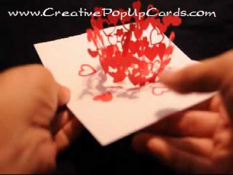 Valentines Day Pop Up Card Kissing Couple YouTube – Valentines Pop Up Cards